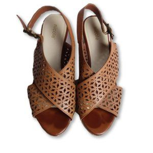 Nicole Women's Brown Wedges Size 8M